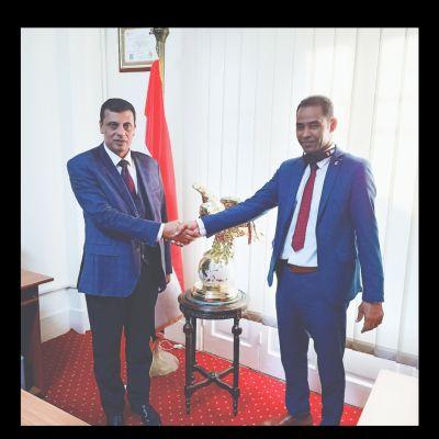 زيارة السيد الاستاذ / السيد الشازلي رئيس النقابة العامة للوسائل الاعلامية  للمركز الدولي